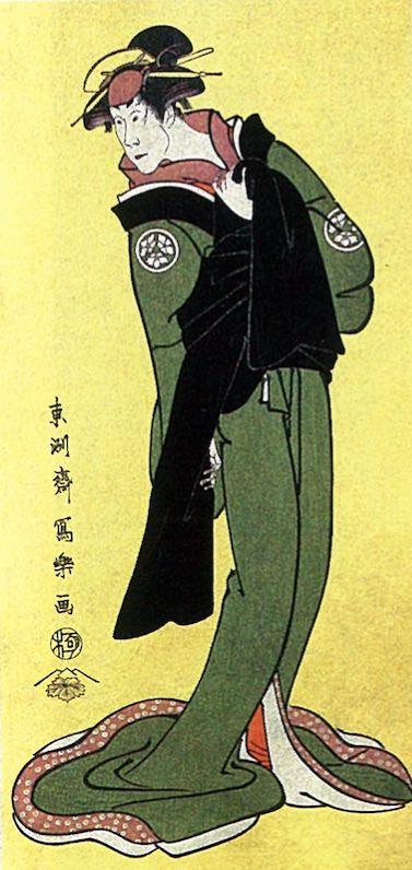 二代目小佐川常世の長右衛門女房おきぬ(東洲斎写楽 画)