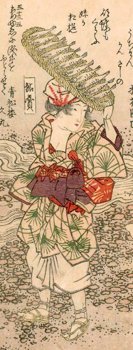 鮎売は江戸時代の女性のポピュラーな仕事(『花容女職人鑑』より)