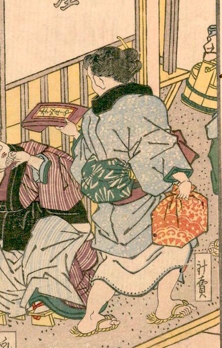 江戸時代の針売り(『花容女職人鑑』より)