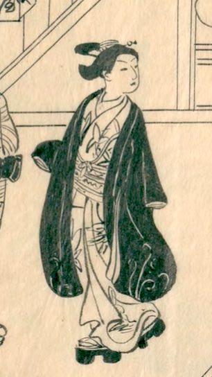 外出する陰間(かげま)(『江戸男色細見菊の園』より)