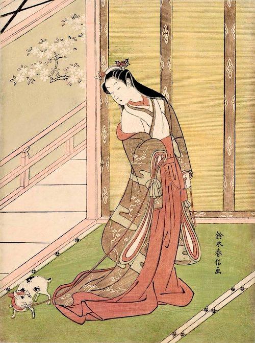 女三の宮(光源氏の妻)(『源氏物語 女三の宮』鈴木春信 画)