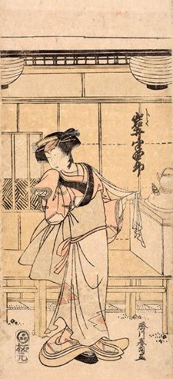 『四代目岩井半四郎 かしく』(葛飾北斎 画/20〜35歳頃)