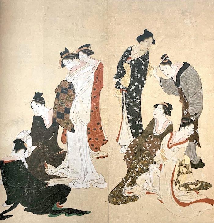 『婦女風俗図』(葛飾北斎 画/1792〜94年)