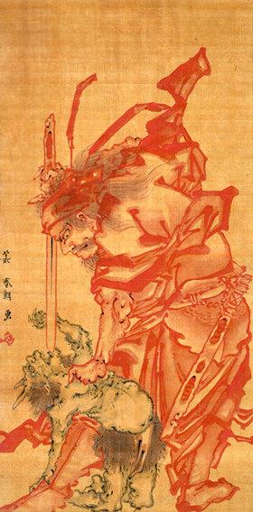 『鍾馗図』(葛飾北斎 画/1793〜94年)