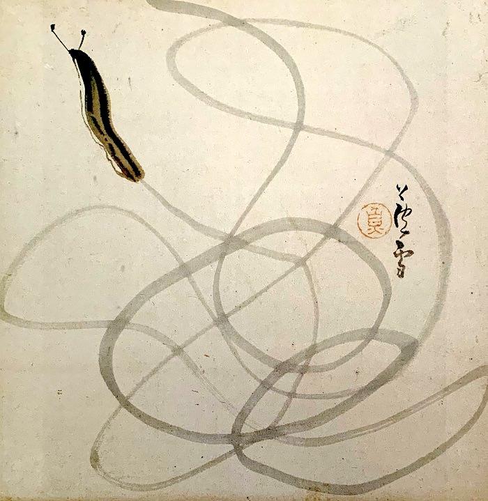 『なめくじ図』(長沢芦雪 画)