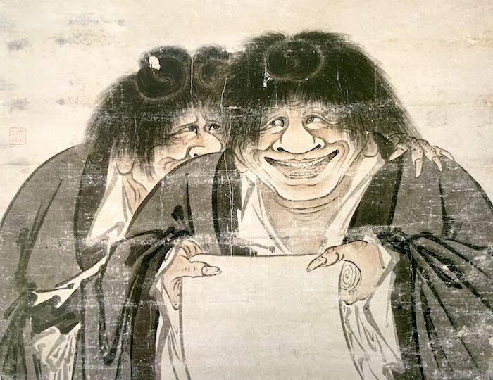 『寒山拾得図(かんざんじっとくず)』(狩野山雪 画)