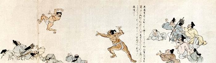 『武家相撲絵巻』(狩野山雪 画)