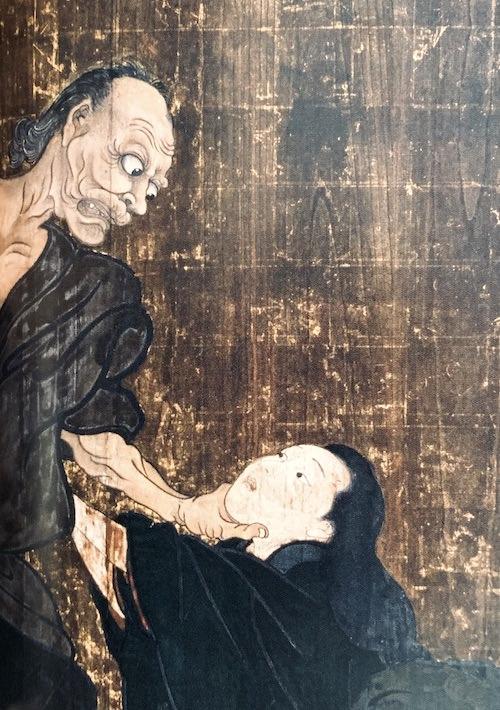 『一ツ家(ひとつや)』の老婆の表情(歌川国芳 画)