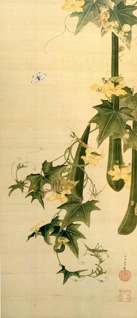 『糸瓜群虫図(へちまぐんちゅうず)』(伊藤若冲 画)の拡大画像