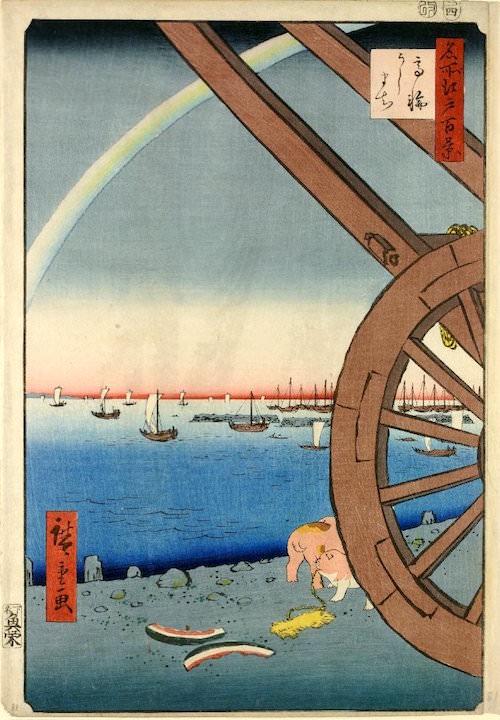 『名所江戸百景』「高輪うしまち」(歌川広重 画)