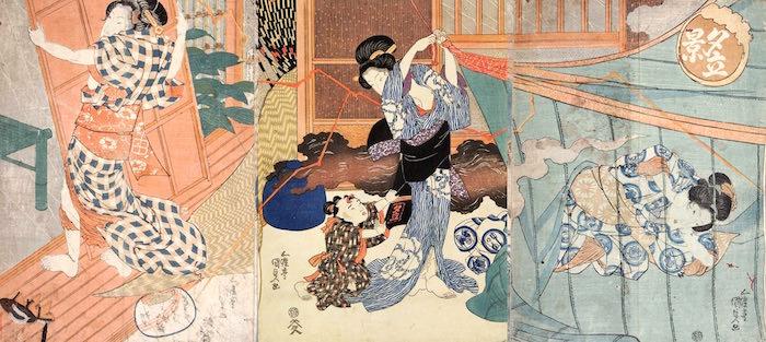 『夕立景』(歌川国貞 画)