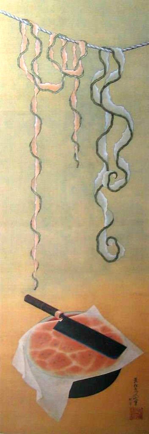 『西瓜図』(葛飾北斎 画)