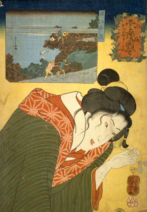 『山海愛度図会 おたのみ申たい』(歌川国芳 画/1852年)