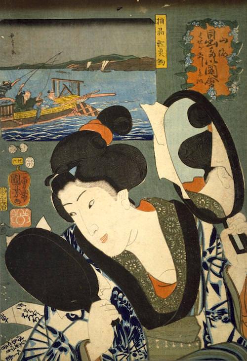 『山海愛度図会 くせが直したい』(歌川国芳 画/1852年)