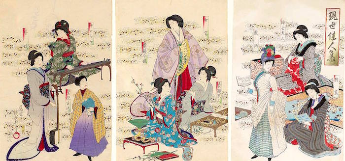 『現世佳人集』(揚州周延 画/1890年)