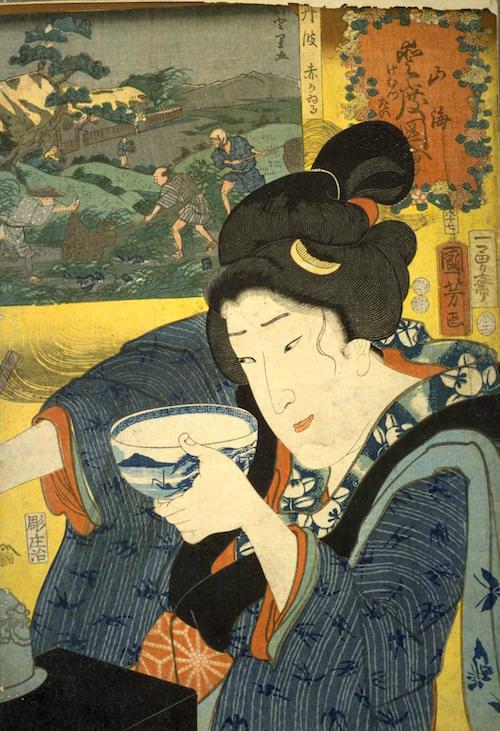 『山海愛度図会 けむつたい』(歌川国芳 画/1852年)