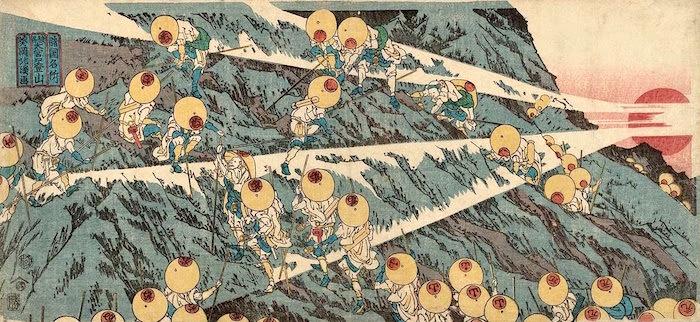 『諸国名所 駿州 大宮口登山』(魚屋北渓 画)