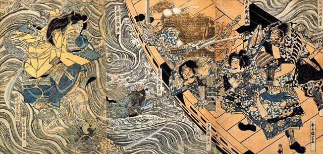 『平知盛亡霊の図』(歌川国芳 画)