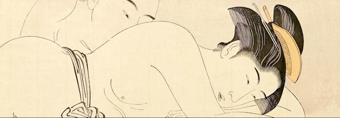 傑作春画『袖の巻』のひとつ(鳥居清長 画)