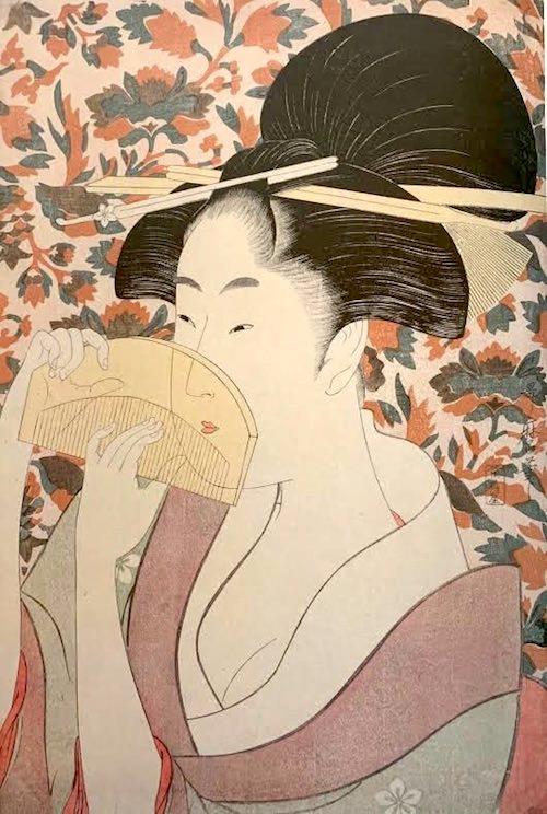 『櫛』(喜多川歌麿 画)