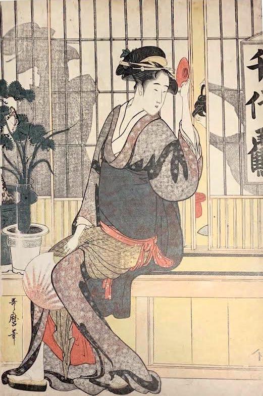 『千代鶴おりせ』(喜多川歌麿 画)
