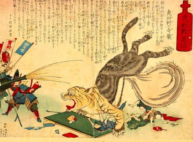 コロリ退治の絵『虎列刺退治』(1886年)