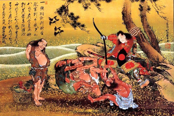 『鎮西八郎為朝図』(葛飾北斎 画)