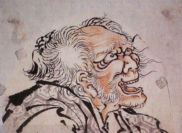 Self-portrait of Hokusai