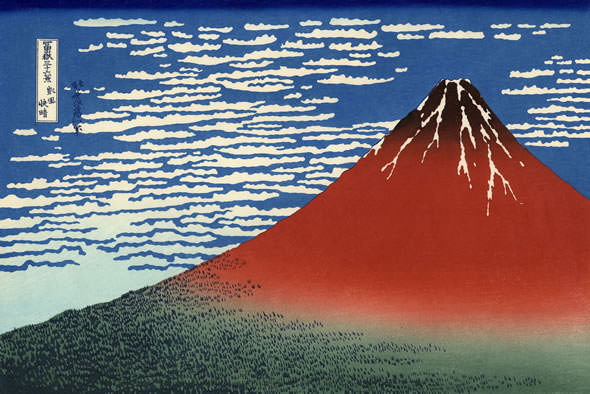 Fine Wind, Clear Weather (Gaifû kaisei), also known as Red Fuji