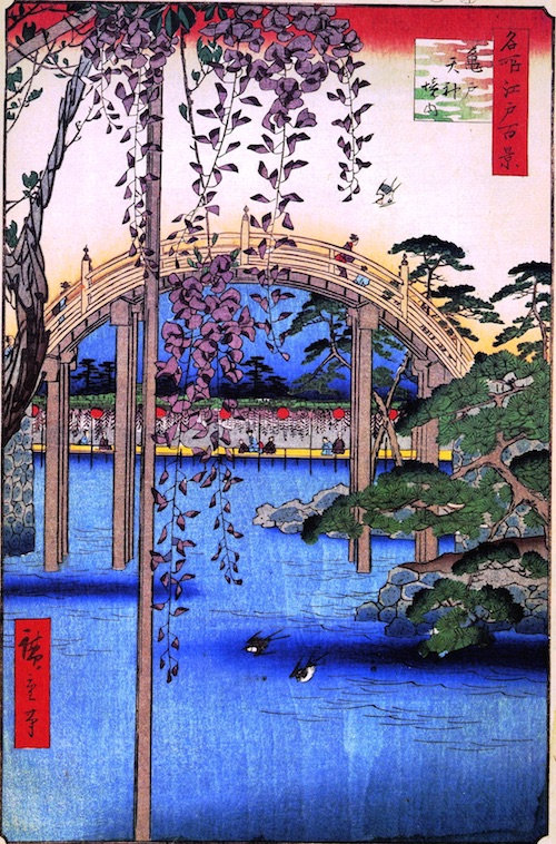 Inside Kameido Tenjin Shrine (Kameido Tenjin keidai)
