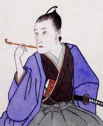 平賀源内の肖像画(『戯作者考補遺』表紙絵より)