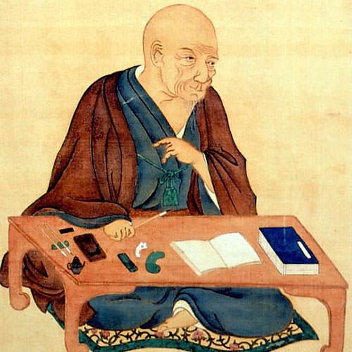 木内石亭の肖像画