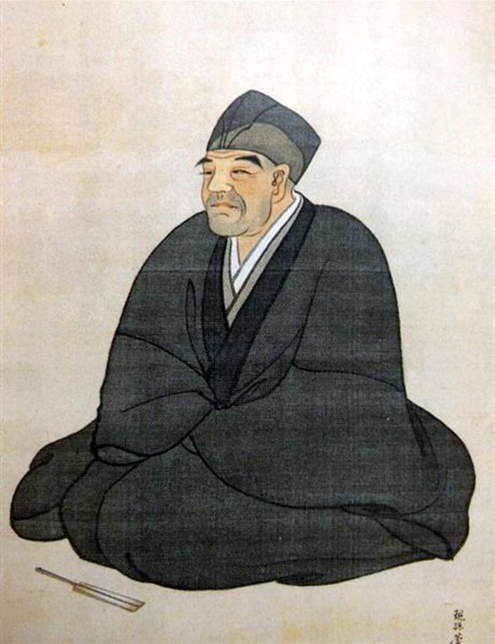 長沢芦雪の肖像画(長沢芦鳳 画、1830-44年ごろ作)