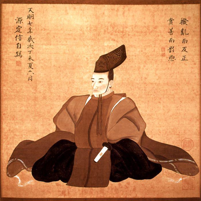 老中・松平定信の肖像画。吉宗の孫でかつて将軍候補にもなった