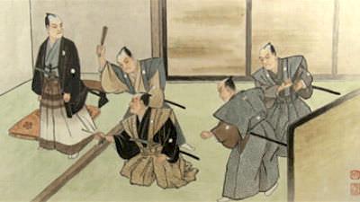七家騒動(画像左が上杉鷹山)